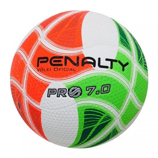 Bola Vôlei Penalty 7.0 Pro IV 521180 Branco Verde Laranja e01686597f8f7