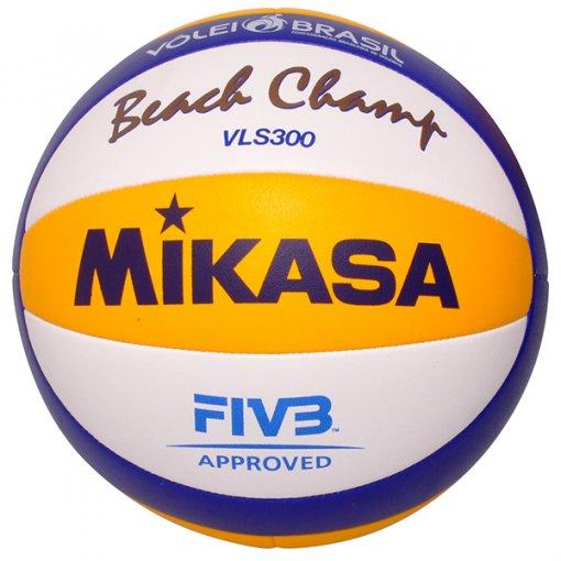 Bola Vôlei Praia Mikasa VLS300 Azul Amarelo Branco c88aa0207ae47