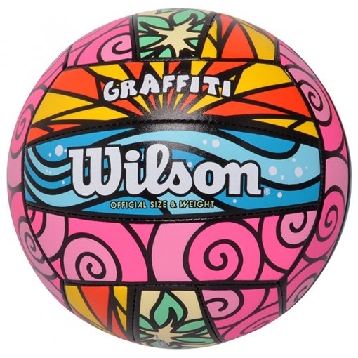 Bola Vôlei Wilson Graffiti WTH4634XB Rosa/Grafite