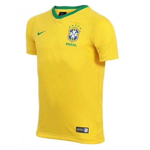 Camiseta Seleção Brasileira Infantil Nike Torcedor 1 Aa2886-749 Amarelo e6dcabf76962f
