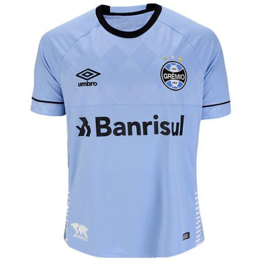 Camiseta Grêmio Masculina Umbro Nations 2018 3G160655 Charrua Celeste