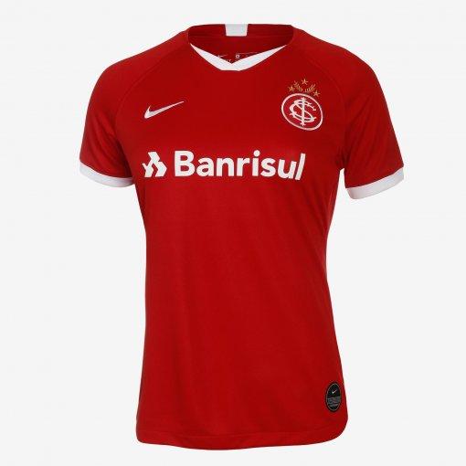 Camiseta Internacional Feminina Nike OF.1 AJ5766-611 Vermelho
