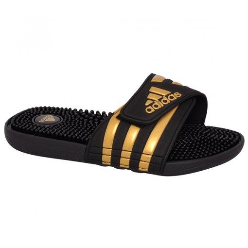 Chinelo Adidas Adissage CM7924 Preto/Dourado