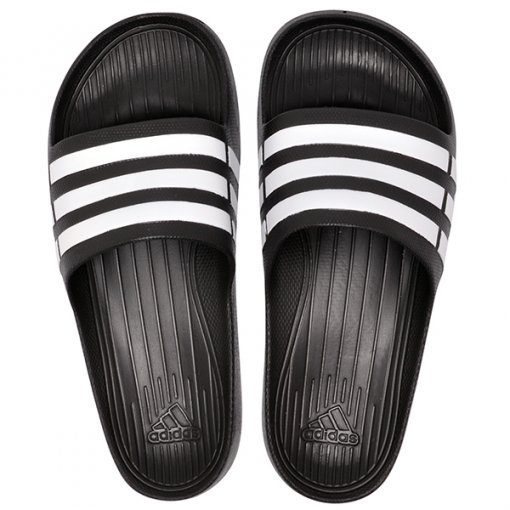 Chinelo Adidas Duramo Slide G15890 Preto/Branco