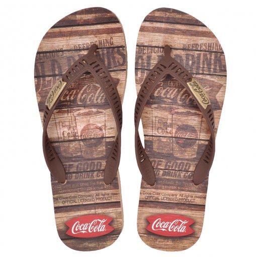 Chinelo Coca-Cola 021.CC2680 Bege/Marrom