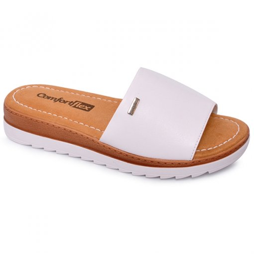 Chinelo Feminino Comfortflex 1760401 Branco