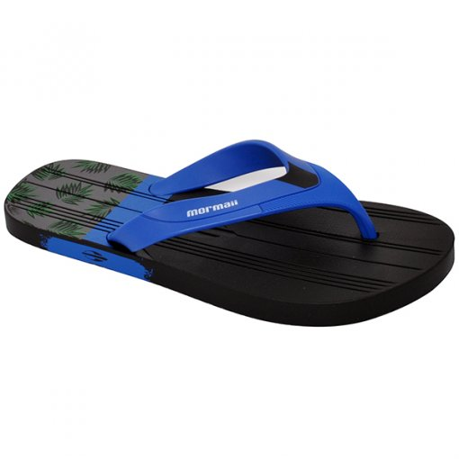Chinelo Grendene Mormaii Tropical 11060 Preto/Azul