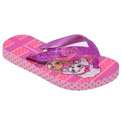 Chinelo Infantil Grendene Barbie 26152 Rosa/Lilas