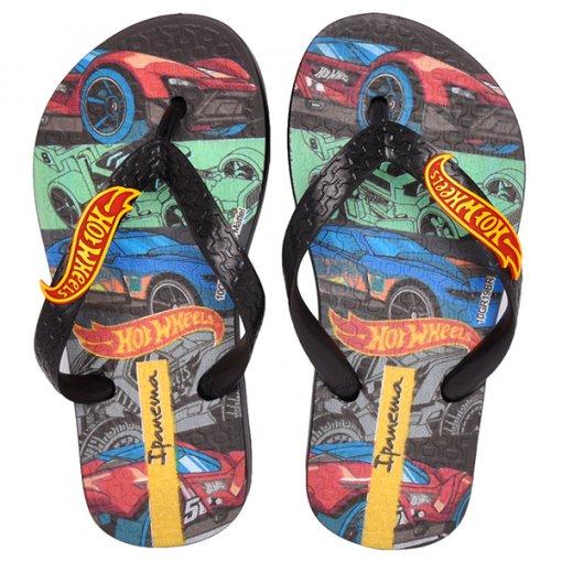 Chinelo Infantil Hot Wheels Tyre Ipanema 28009 Preto/Vermelho