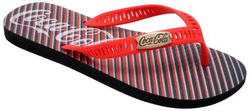 Chinelo Masculino Coca-Cola 021.Cc2238 Preto/Vermelho