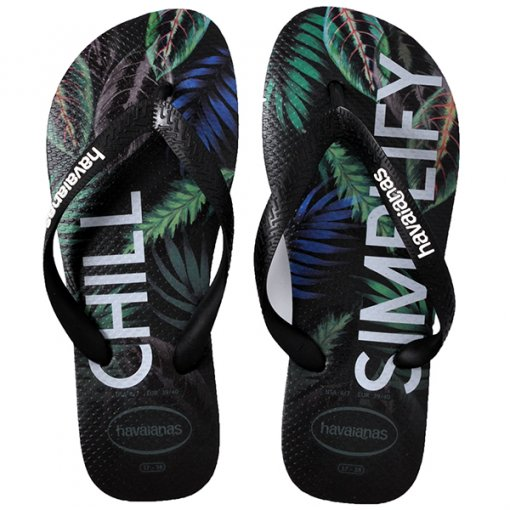Chinelo Havaianas Top Tropical Preto