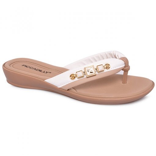 Chinelo Piccadilly 500198 Branco/Marfim