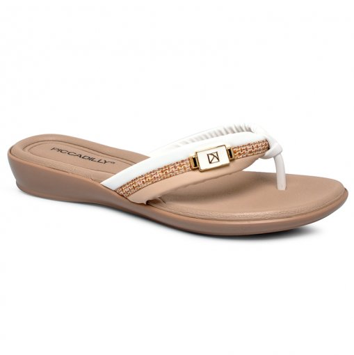 Chinelo Piccadilly 500244-2 Branco/Creme