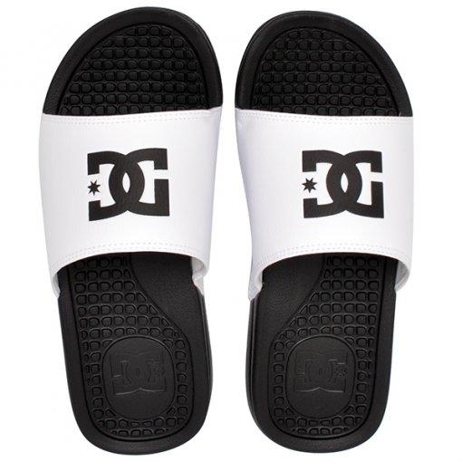Chinelo Slide Dc Shoes Bolsa Men Branco/Preto