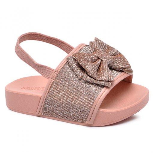 Chinelo Slide Infantil Molekinha Glitter 2125102 Multi Rosa