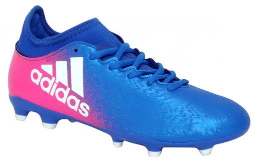 Chuteira Campo Adidas X 16. Bb5641 Azul/Branco/Rosa Pink