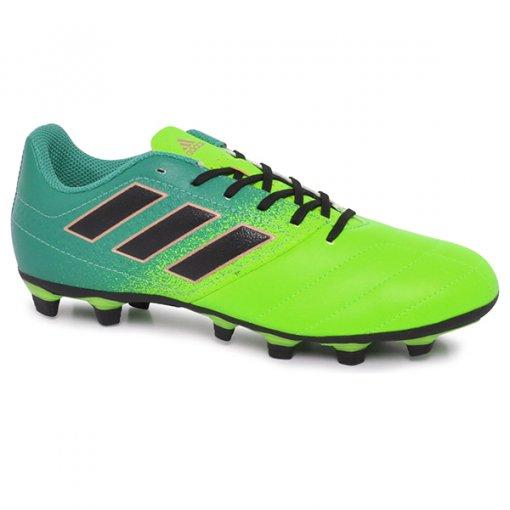 Chuteira Campo Masculina Adidas Ace 17.4 Bb1051 Verde/Preto