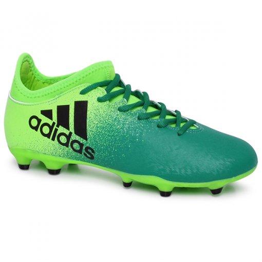 Chuteira Campo Masculina Adidas X 16.3 Bb5855 Verde/Preto