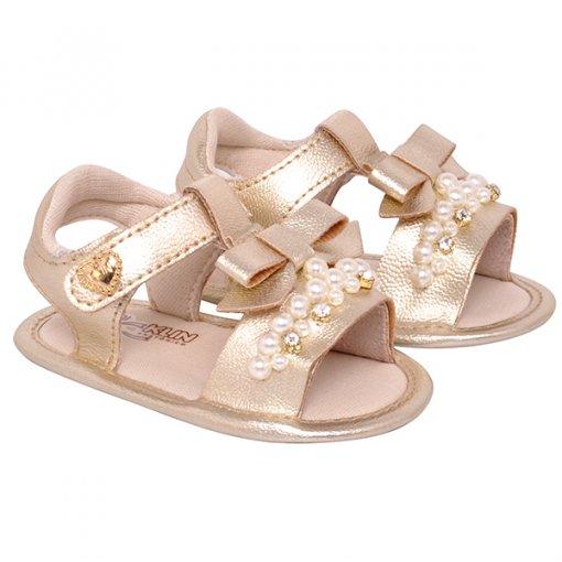 Sandália Infantil Klin 208205 Dourado