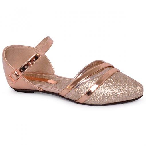 Sandália Infantil Molekinha 2506315 Dourado/Ouro Rosado