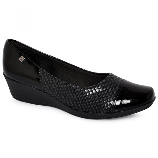 Sapato Anabela Piccadilly 144024 Preto
