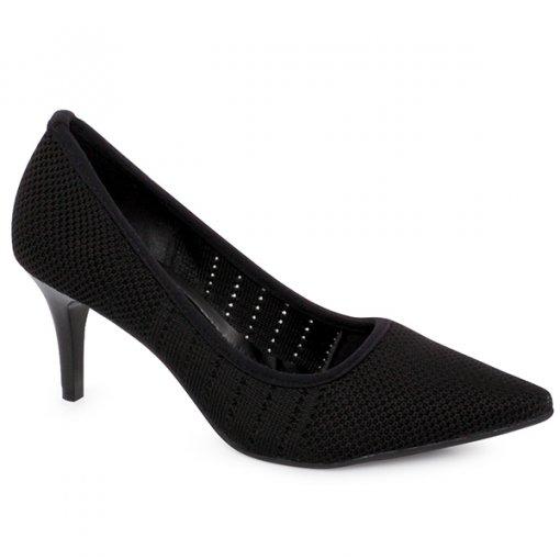 Sapato Bico Fino Bebecê 7010-207 Preto