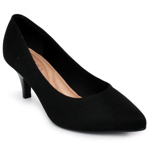 Sapato Feminino Beira Rio 4076150 Preto-Camurça