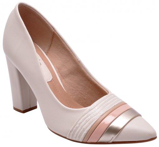 Sapato Feminino Beira Rio 4156101 Branco/Bege