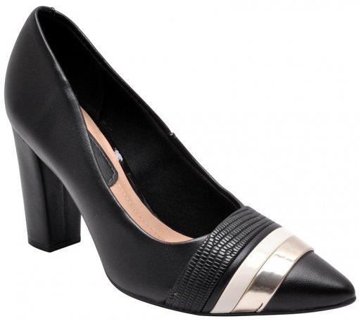 Sapato Feminino Beira Rio 4156101 Preto/Branco
