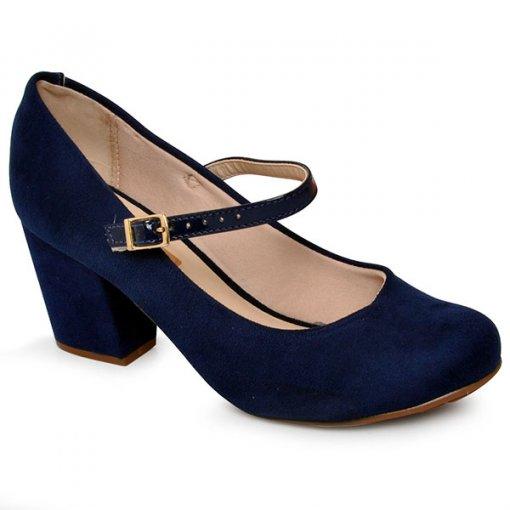 Sapato Moleca 5300311 Azul Marinho