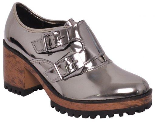 Sapato Feminino Moleca 5626103 Grafite