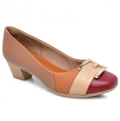 Sapato Joanete Care Usaflex AC3208 Rebu/Camel