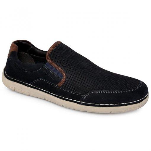Sapato Democrata 175102 Azul/Tabaco