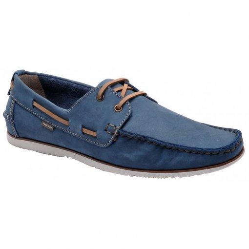 Sapato Masculino Freeway Escuna-1 Azul Cobalto/Havana