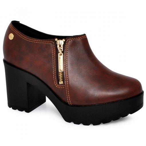Sapato Meia Pata Moleca 5647102 Pinhão