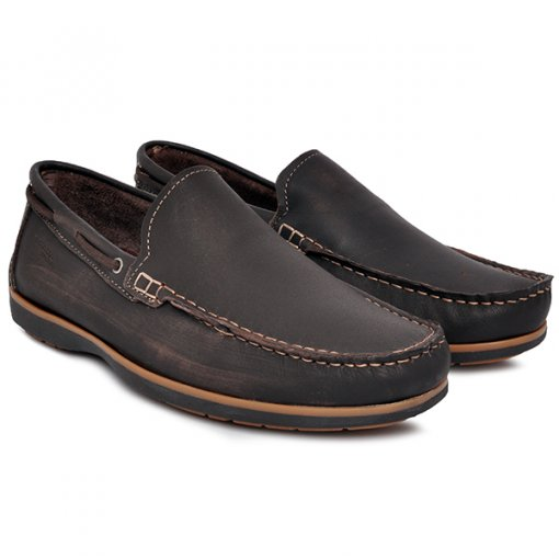 Sapato Mocassim Pegada 141001-02 Marrom
