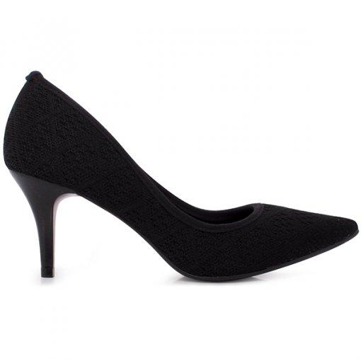 Sapato Scarpin Bico Fino Bebecê 7010-204 Preto