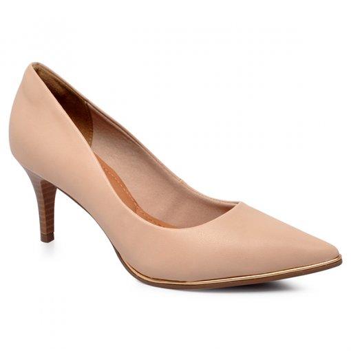 Sapato Scarpin Bico Fino Bebecê T7020-277 Napa Nude