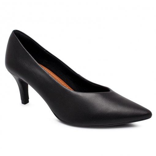 Sapato Scarpin Usaflex Couro AC6902 Preto