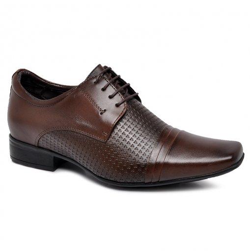 Sapato Social Jota Pe +6,5cm 15248 Marrom