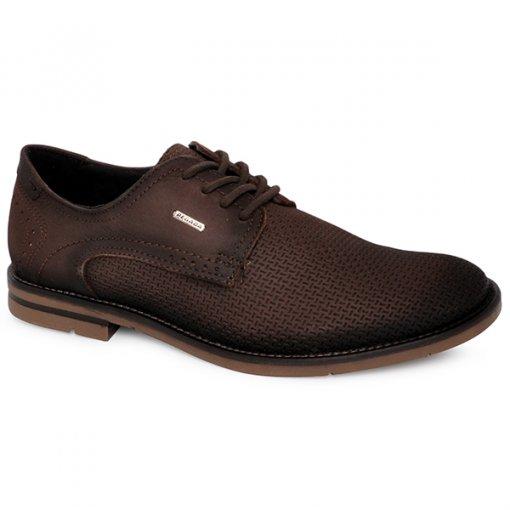 Sapato Social Pegada 121975-02 Cravo/Marrom