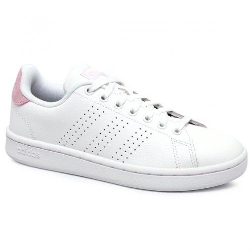 Tênis Adidas Advantage F36481 Branco/Rosa