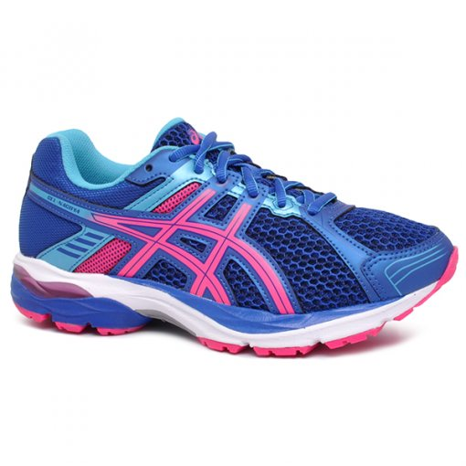 58d9431a304 Tênis Asics Gel-Nagoya Azul Marinho Rosa Pink