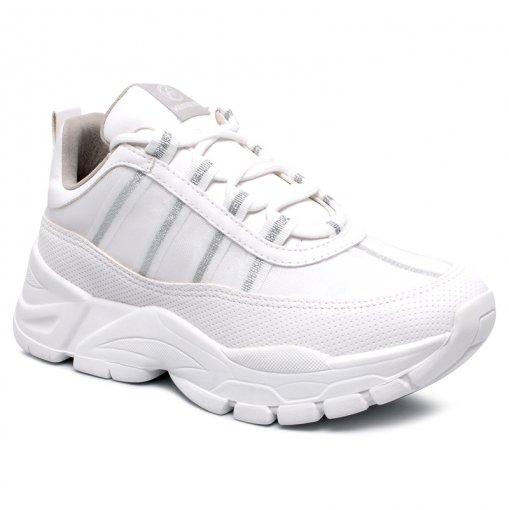 Tênis Dad Sneaker Chunky Via Marte 19-12103 Branco/Transparente
