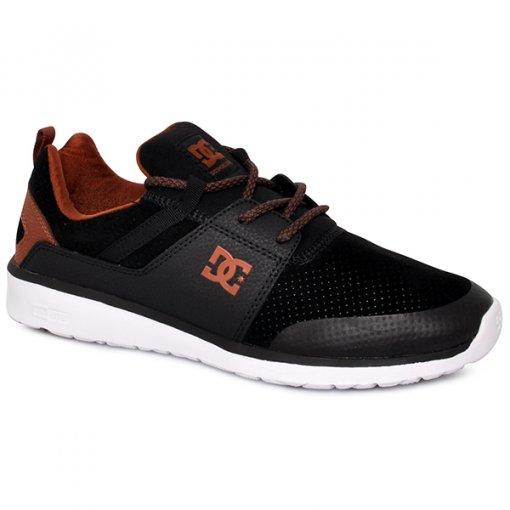 Tênis Dc Shoes Heathrow Prestige Adys700084 Preto Marrom Branco 22bc52b6f26a1