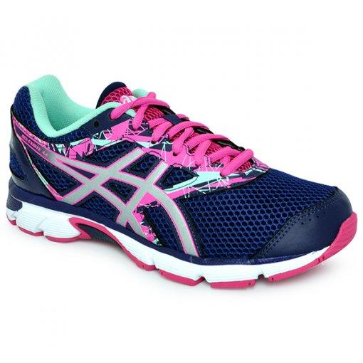 Tenis Feminino Asics Gel-Excite 4a Azul Rosa Verde 7168eeaf70223
