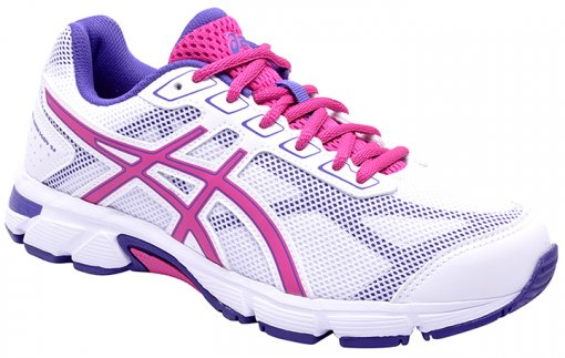Tênis Feminino Asics Gel-Impression 9A White-Rose Violet-Blue
