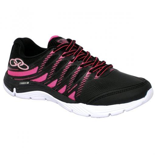 Tênis Feminino Olympikus Supra 339 Preto/Rosa Pink
