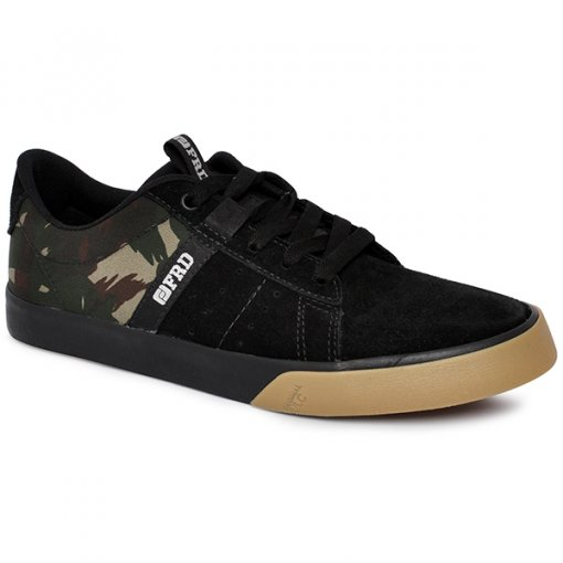 Tênis Freeday New Id Vulc 31359 Preto/Camuflado/Natural