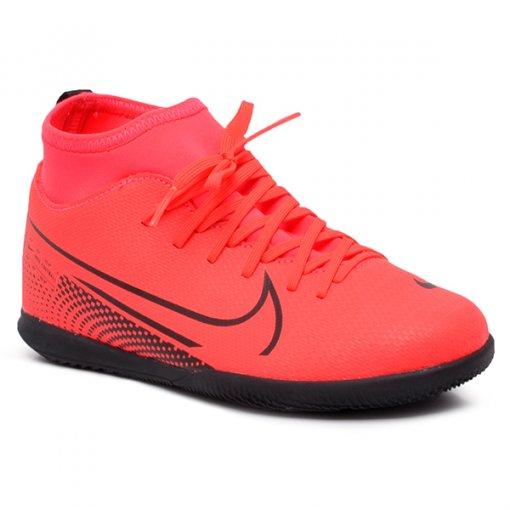Tênis Futsal Botinha Infantil Nike Jr Superfly 7 AT8153-606 Vermelho/Preto